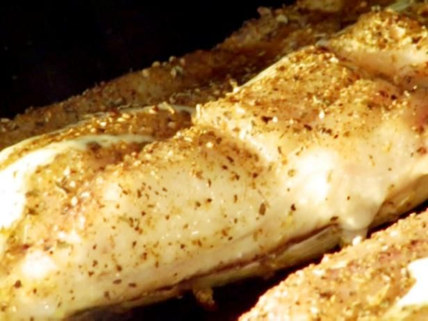 Get Redfish on the Half-Shell with Lemon-Butter Lump Crabmeat Sauce Recipe from Food Network