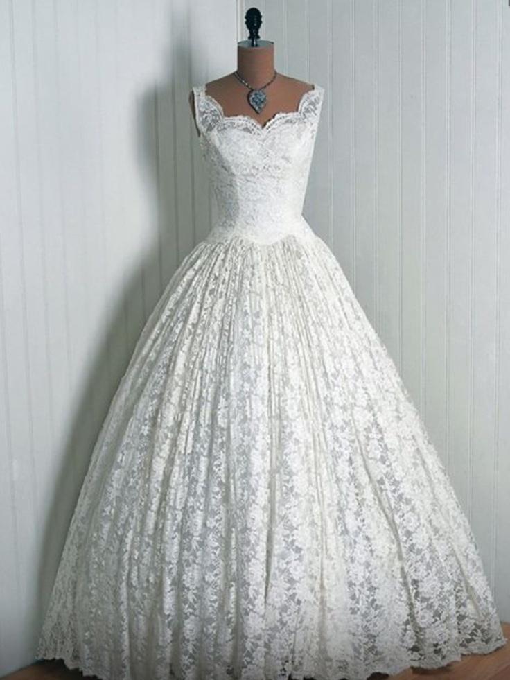 Beautiful 1950's Wedding Dress My Style Pinterest