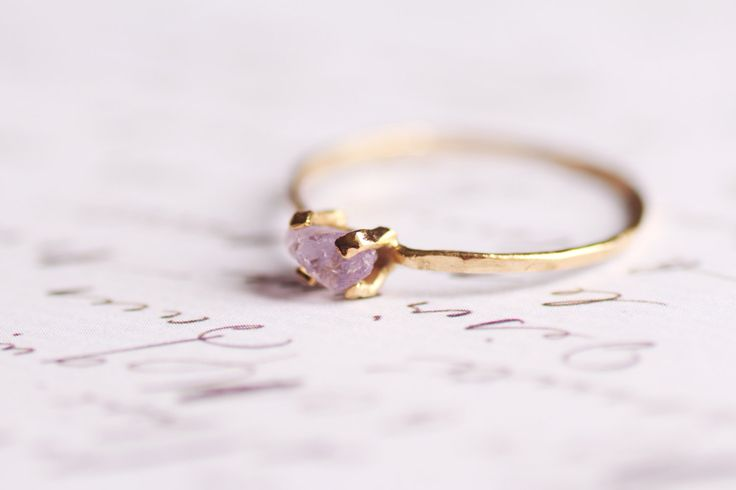 Raw engagement rings are totally trending.