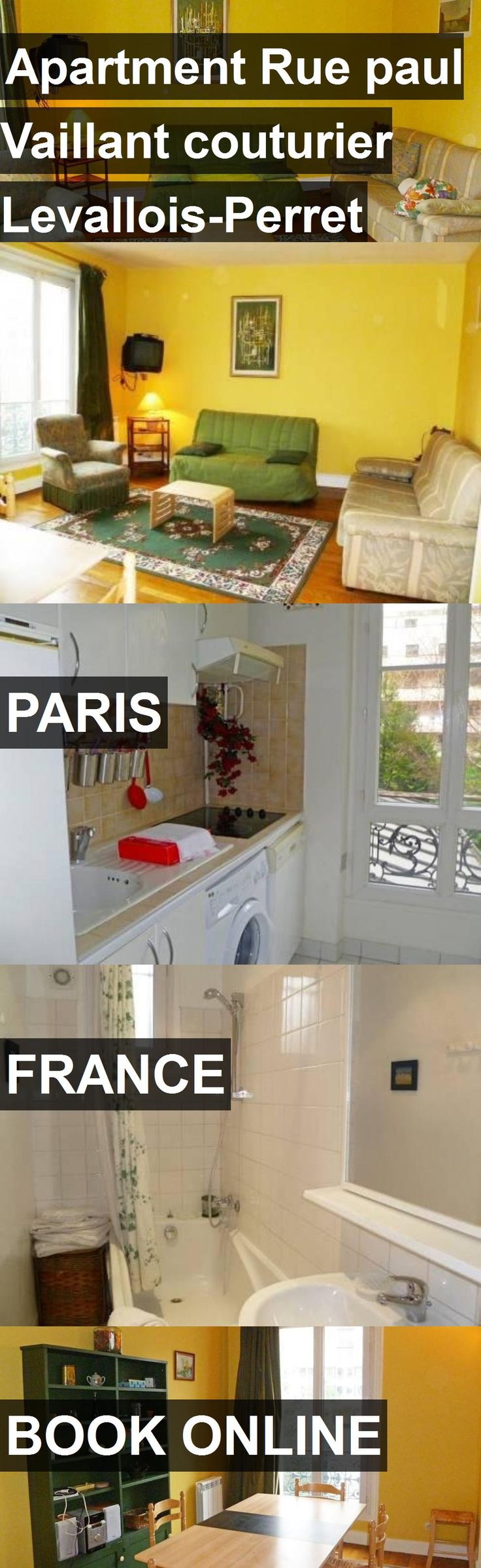 Hotel Apartment Rue paul Vaillant couturier Levallois-Perret in Paris, France. For more information, photos, reviews and best prices please follow the link. #France #Paris #ApartmentRuepaulVaillantcouturierLevallois-Perret #hotel #travel #vacation