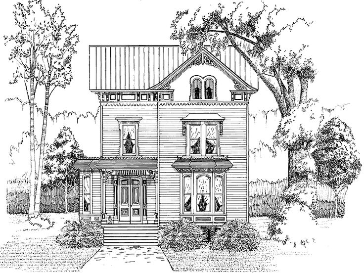 Victorian House Plan with 2084 Square Feet and 3 Bedrooms from Dream Home Source | House Plan Code DHSW54025