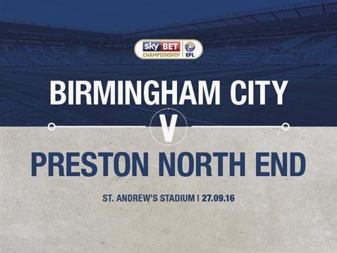 Blues v Preston North End ticket details