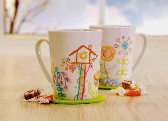 Tasse bemalen mit Porzellanmalstiften, Porzellanmaler, Geschirr bemalen, Teller bemalen, geschenkidee Weihnachten, Geschenkidee kreativ