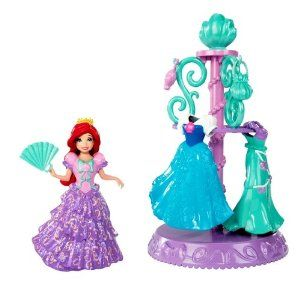 Disney Princess Favorite Moments Ariel Wardrobe by Mattel. $17.60. Girls can dress up their favorite Disney princess in her most elegant fashions. Beautiful wardrobe hangs fashions and accessories for display. The ultimate royal fashion collection. Includes Ariel doll, fashions, accessories and wardrobe. MagiClip system makes changing a breeze. From the Manufacturer                Disney Princess MagiClip Fashion Collection: New MagiClip fashions make fashion play more fun and ...