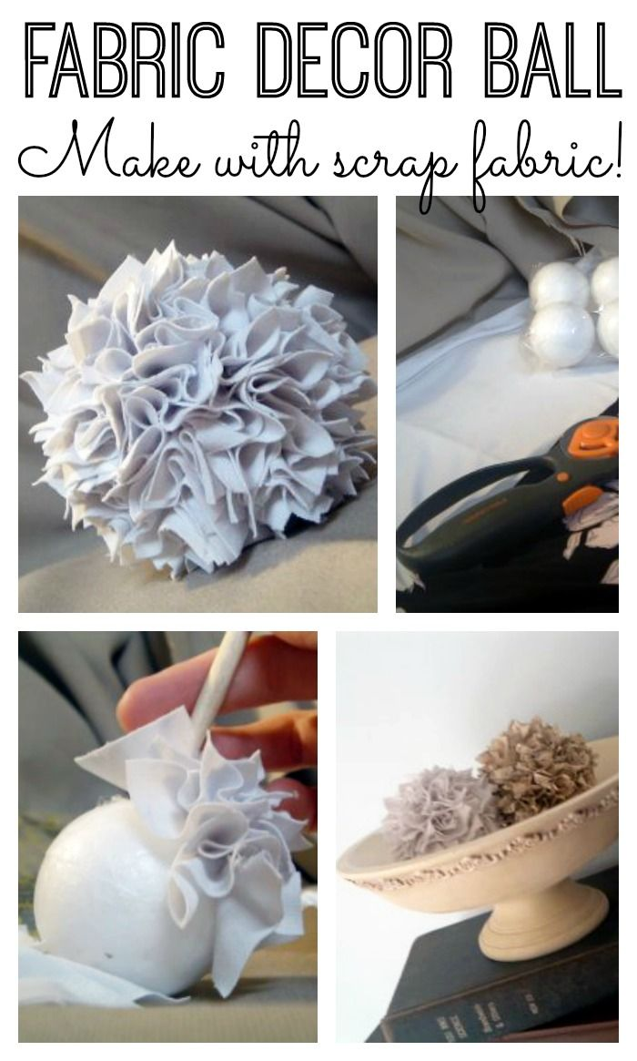 Make this fabric ball for your home decor from any scrap fabric! Step by step instructions included!