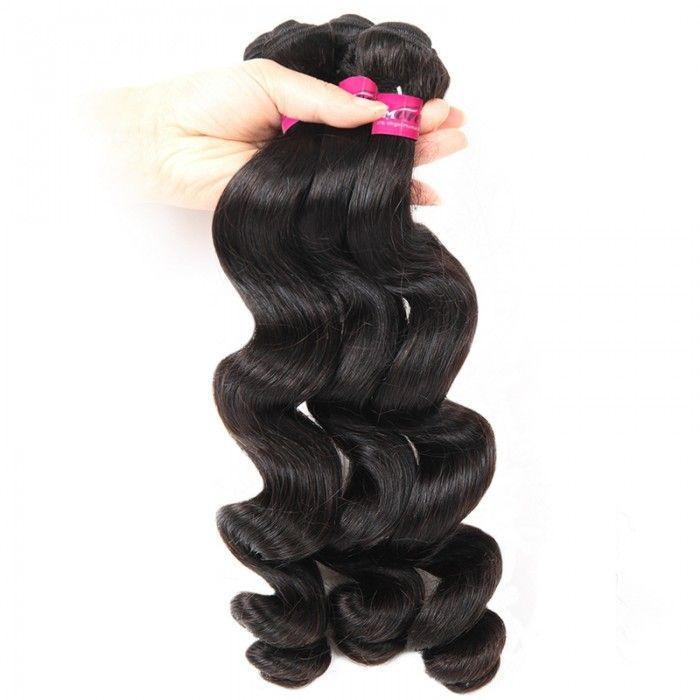 One More Malaysian Loose Wave Human Virgin Hair 3 Bundles Wave