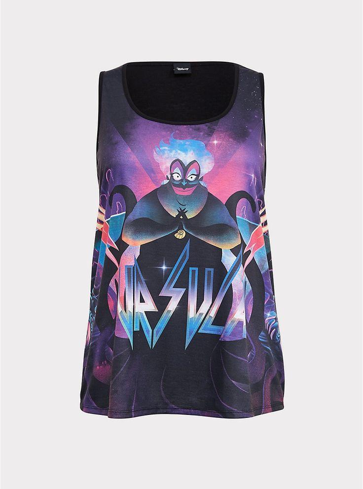 Disney Villains Ursula Slim Fit Neon Tank Disney
