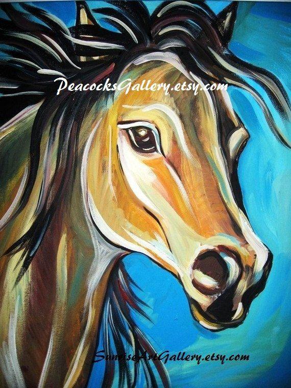 Horse Art Print 16x20                                                                                                                                                                                 Más