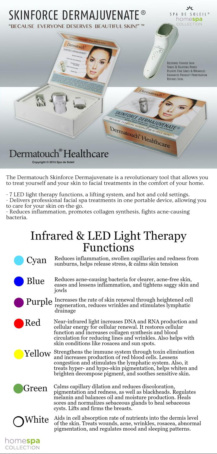 The Dermatouch Skinforce Dermajuvenate is a #portable, #noninvasive, #facial therapy system! With 7 LED light options to target various skin issues, it is your skin's problem solver! From #acne to #oilyskin, #wrinkles to #rosacea, this little tool does it all! Available at HomeSpaCollection.com for $49 OFF!!: http://bit.ly/SkinforceDermajuvenate