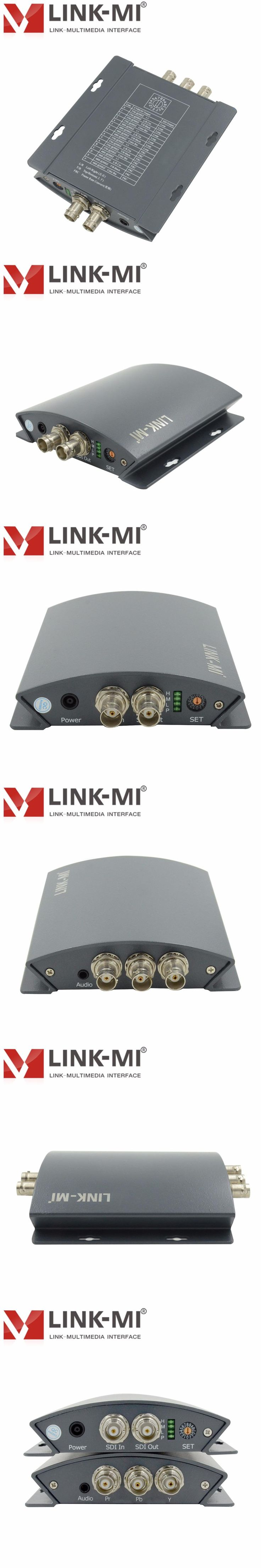 LINK-MI LM-PSY01 Professional SD/HD/3G SDI to YPbPr Converter With DIP Switch BNC Connector