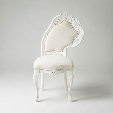 Lisa chair in white |chair . Stuhl . chaise |Design: Lila Jang|