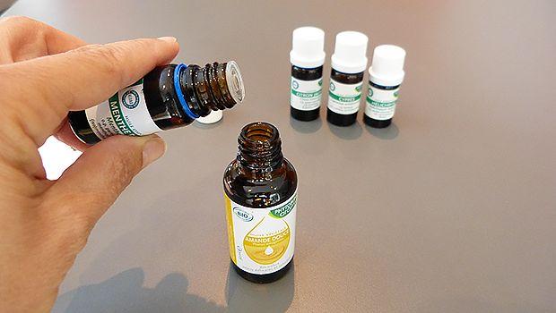 Préparation maison aux huiles essentielles pour atténuer et soulager la douleur des varices et varicosités