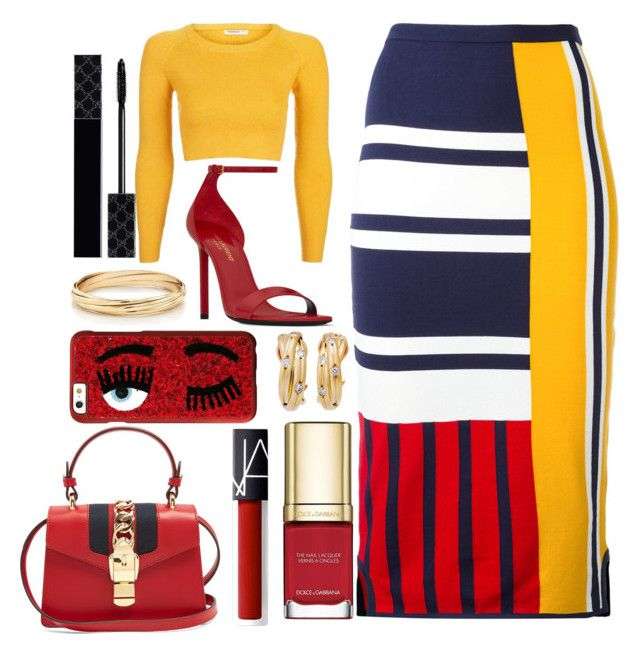 Tommy Hilfiger Skirt by pulseofthematter on Polyvore featuring polyvore fashion style Topshop Tommy Hilfiger Yves Saint Laurent Gucci Chiara Ferragni NARS Cosmetics Dolce&Gabbana clothing