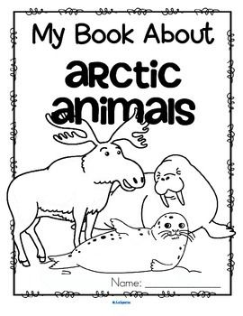 arctic animals activity printables read color and draw make a book kidsparkz new. Black Bedroom Furniture Sets. Home Design Ideas