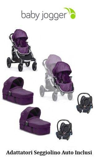SUPER OFFERTA:  Trio Gemellare Baby Jogger City Select colore Amethyst  Da € 1.562,00 a € 1.099,00 http://www.lachiocciolababy.it/passeggini-gemellari-doppi/5588-trio-gemellare-baby-jogger-city-select-2014-quartz.html