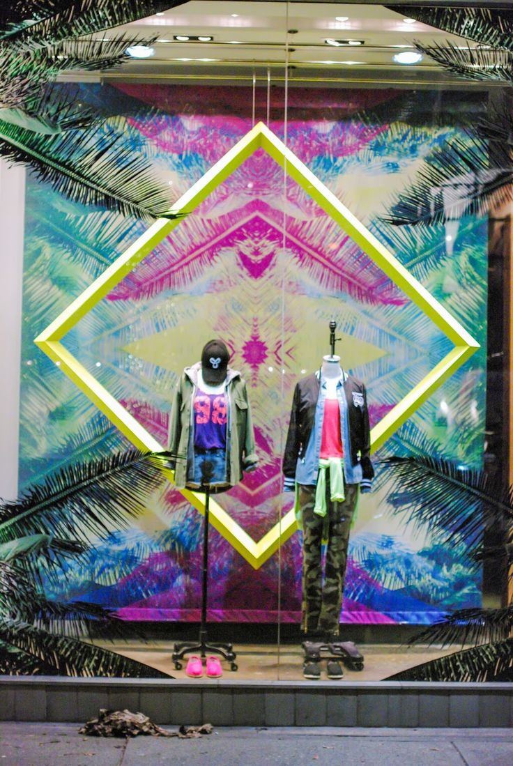 VCG Colourlink Inspiration Window Display Visual Merchandising Summer 2015 Ibiza Beach Holiday Summer