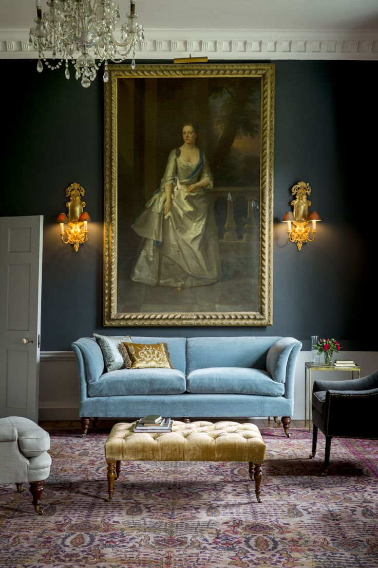 The Pompadour High Back sofa is Beaumont & Fletcher's signature piece sofa.