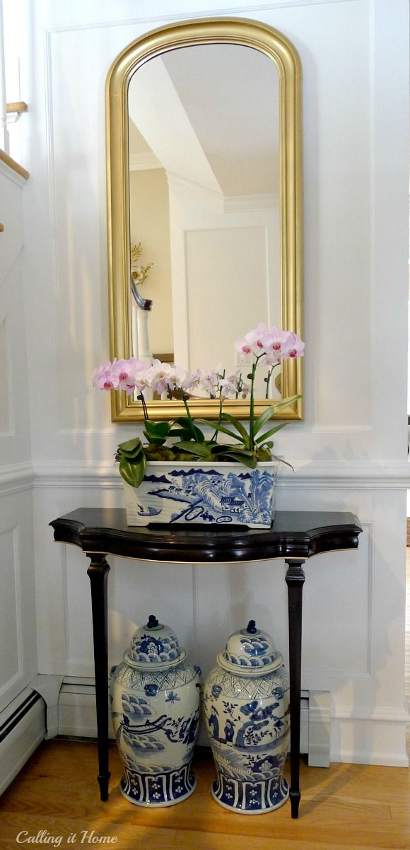 Calling it Home: One Room Challenge..the Finale - blue and white Chinese porcelain from The Pink Pagoda