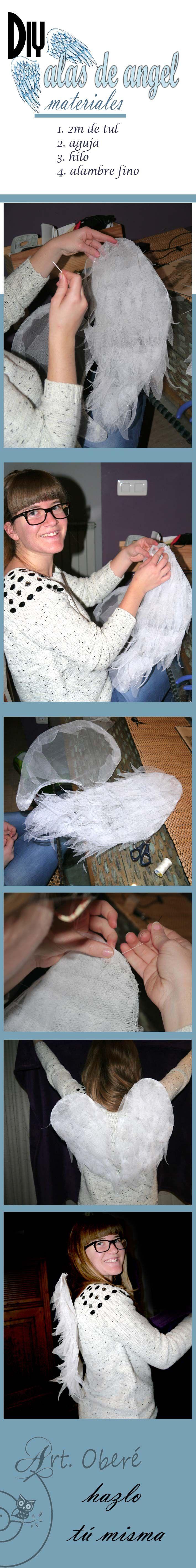 como hacer unas alas de angel, diy and handmade by art obere