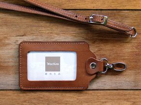 Weeken  ID card holder / badge holder with belt  by weekenlife  find more personalized badge holders at www.mouseandmarker.com/monogrammed-badge-holders/