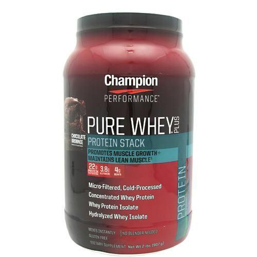 Champion Nutrition Pure Whey Plus Chocolate Brownie - Gluten Free