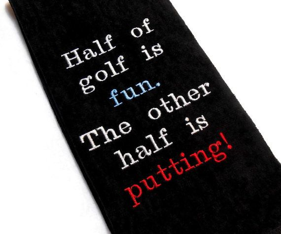 Golf towel funny sports towel embroidered towel by arizonathreads