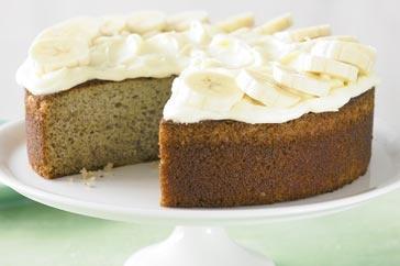 Banana cake with cream cheese frosting: Cupcakes, Bananas, Recipes, Banana Cakes, Cheese Frosting, Flavour, Light, Cream Cheeses