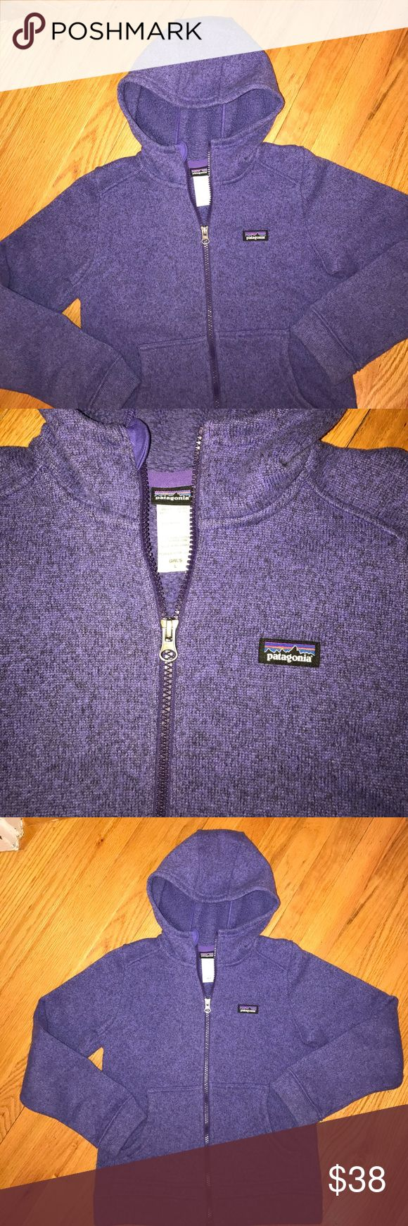 Girl's Patagonia Fleece Jacket Size Large (10-12) Girl's Patagonia Hooded Fleece Jacket Size Large (10-12). Great condition. 100% Polyester. Color is purple. Patagonia Jackets & Coats