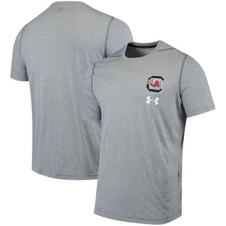 South Carolina Gamecocks Under Armour Threadborne Left Chest Logo Performance T-Shirt - Gray
