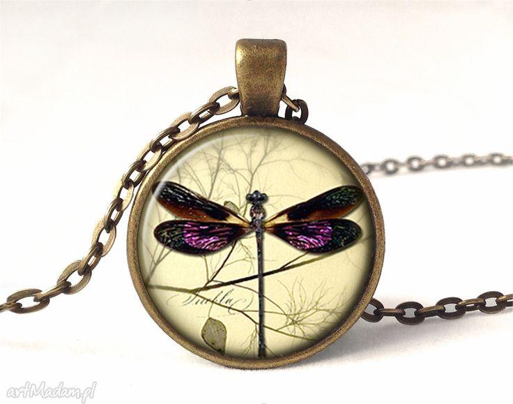 Ważka medalion łańcuszkiem naszyjniki egginegg romantyczny