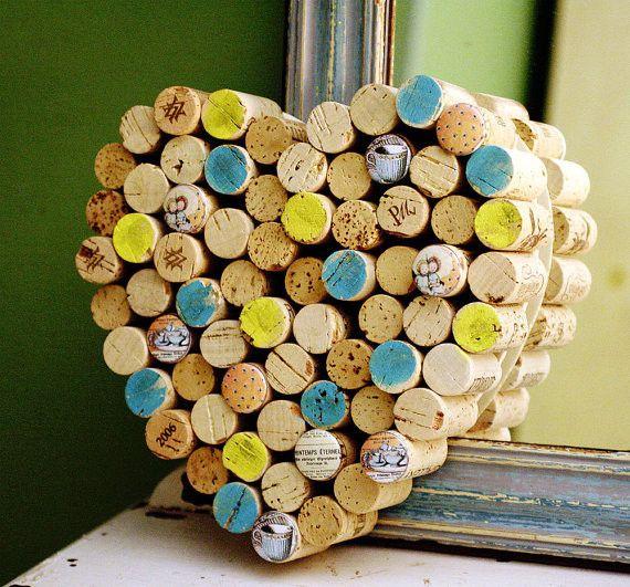 An ACTUAL cork board. too cute!  | 10 DIY Wine Cork Projects