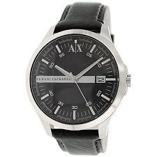 Armani Exchange Men's AX2101 Black Leather Quartz Dress Watch Was: $140 Now: $82.15.