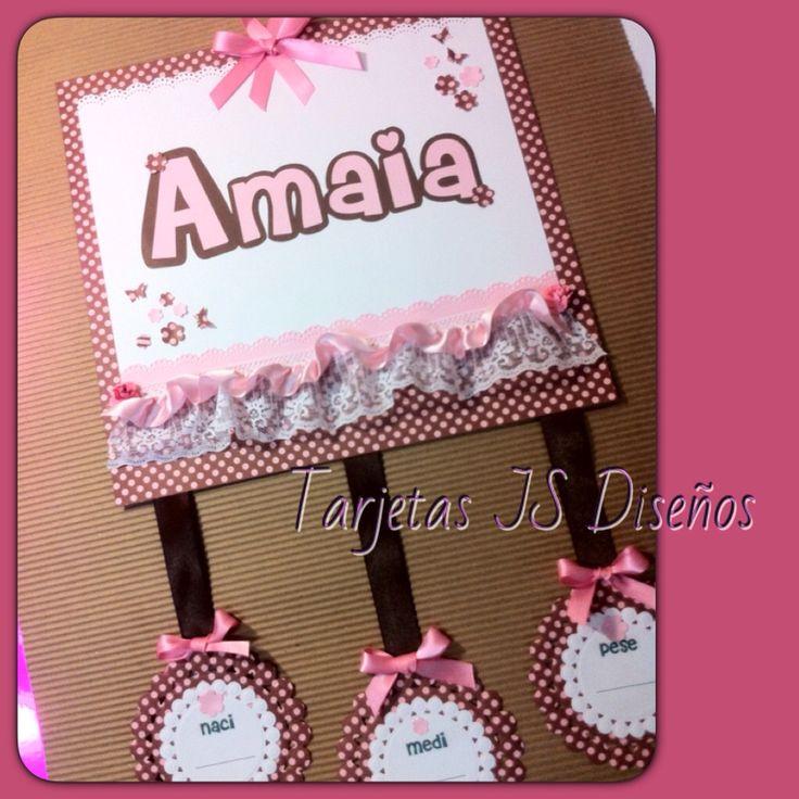 Cartel de Bienvenida para la Clínica en el nacimiento de Amaia