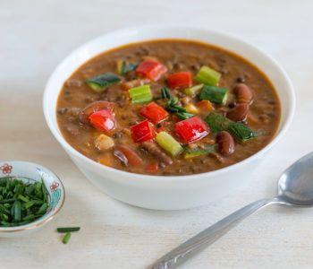 Tasty Lentil and Vegetable Chili Image