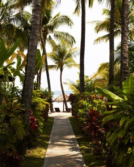 Each bungalow at the Bayview Beach Resort in Ngapali Beach is steps from the turquoise Bay of Bengal.