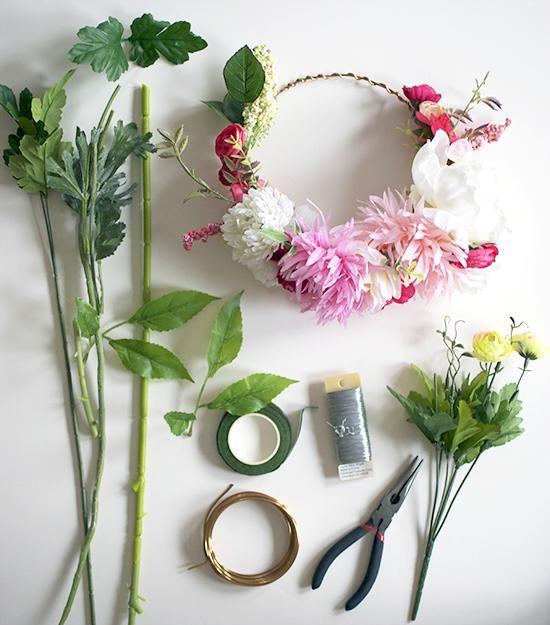 Wedding crown.     Création d'une couronne de fleur
