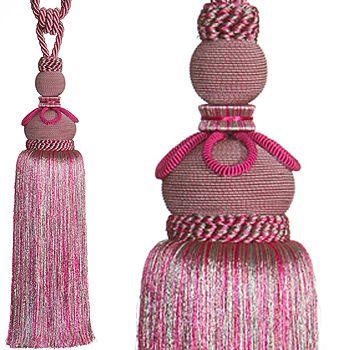 Kestrel Priya Rope Curtain Tieback, Cerise Pink