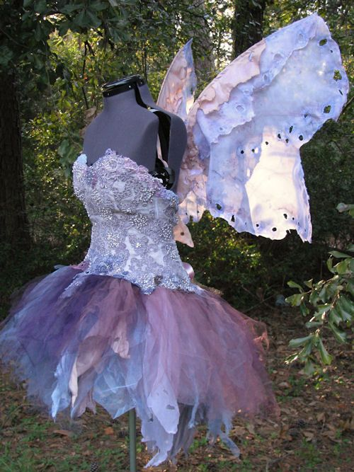 Dresses Pagan Wicca Witch:  Lavender Faery Dress. Upcycled Pixie, via Fantasy Couture.