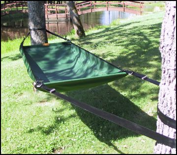 Camping gear treeboat hammock for tree climbing enthusiast