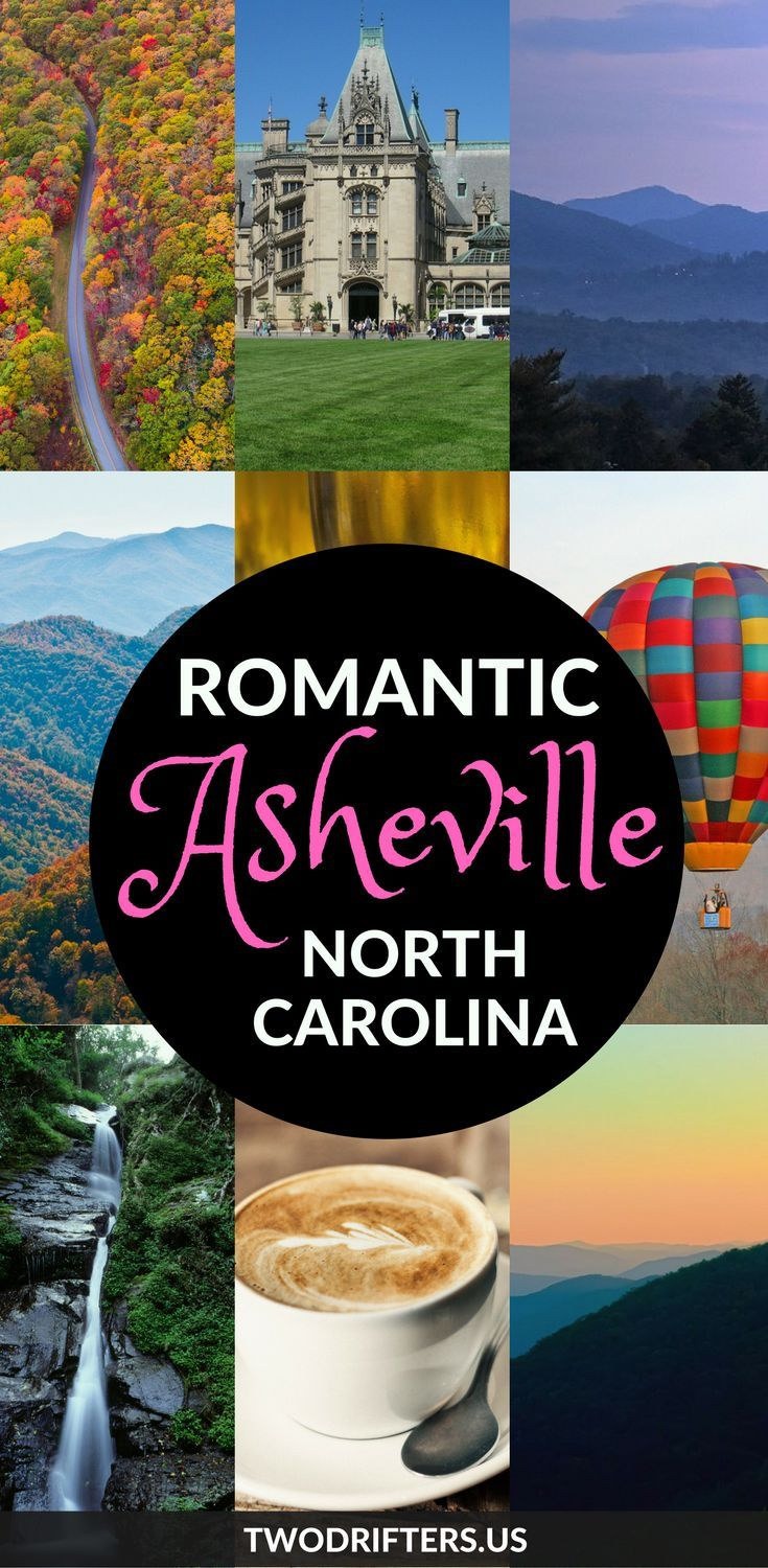 North Carolina, USA! Grab your sweetheart and make your way to this lush region of the Blue Ridge Mountains. Hiking, rafting, breweries, cozy cabins, and an eclectic, artsy downtown are among the many romantic things to do in Asheville NC.