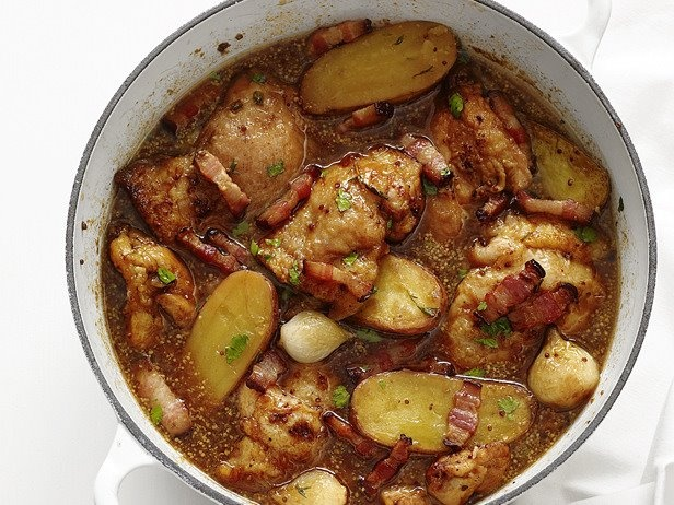 Beer-Braised Chicken. To create this succulent chicken supper, brown ...
