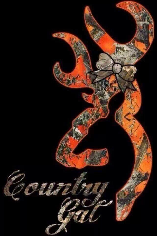 country Girl Love Wallpaper : Orange camo browning symbol Iphone wallpapers 4/4s Pinterest Logos, country girls and The ...