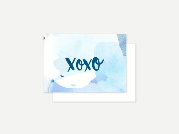 Hugs and kisses greeting card by ithinkcreative on Etsy