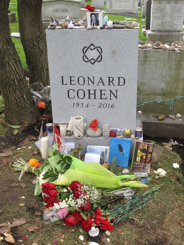 Leonard Cohen's Grave and the Cohen Family Grave in Congregation Shaar Hashomayim, Montreal. Photos by Eija & Jarkko Arjatsalo on November 3 and 9, 2017.- The Jewish tradition of leaving stones on a grave is an ancient one, and its origins are unclear. It is a custom or tradition, rather than a commandment, and over time many interpretations have been offered for this practice. Flowers, though beautiful, will eventually die. A stone will not die, and can symbolize the permanence o...