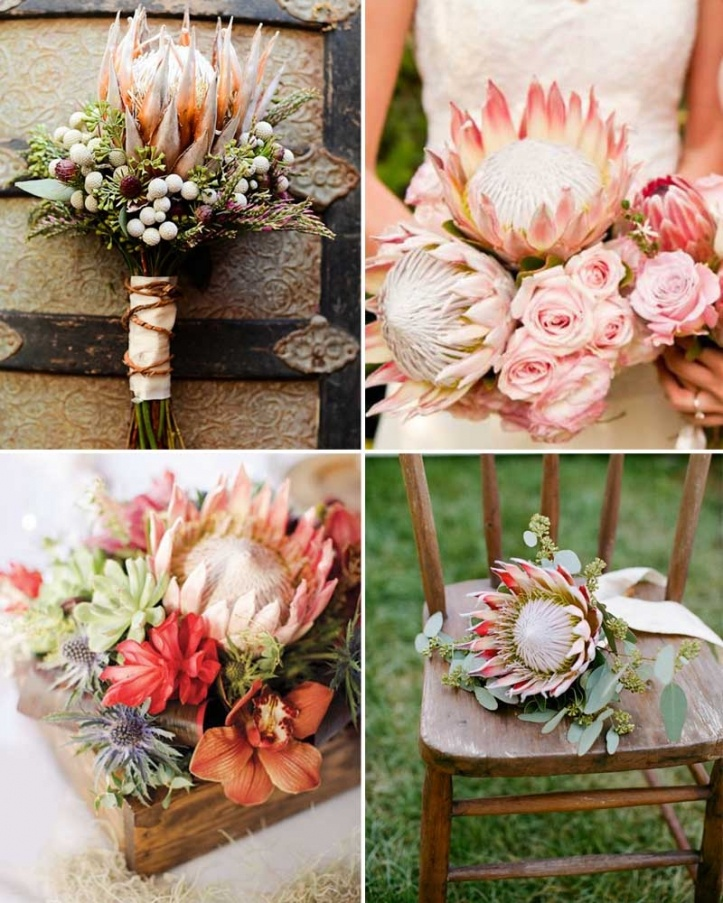 Bruidsboeket, mooie kleuren en gaaf met distel