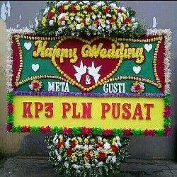 TOKO BUNGA JAKARTA: KARANGAN BUNGA PAPAN | BUNGA HAPPY WEDDING | BUNGA...