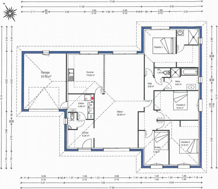 Plan De Suite Parentale Avec Salle De Bain (avec images)   Plan de maison gratuit, Suite ...