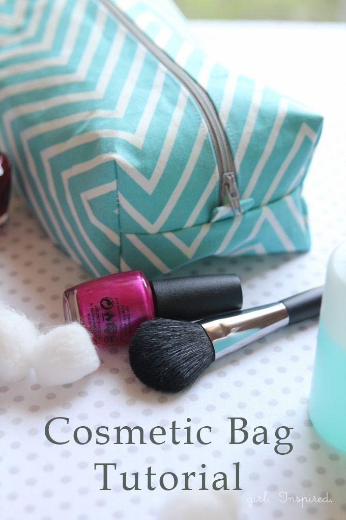 Cosmetic Bag Tutorial - super facile !!