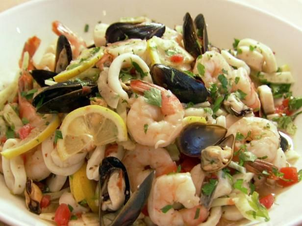 Italian Seafood Salad Recipe from Food Network