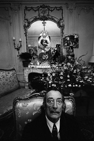Salvador Dali/ photo by Ara Guler